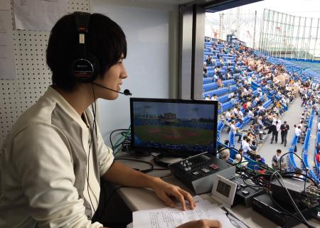 東京六大学野球実況写真1